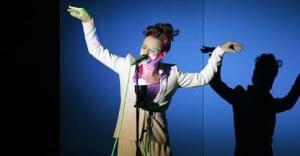 Emma Morton durante l'esibizione di giovedì sera.