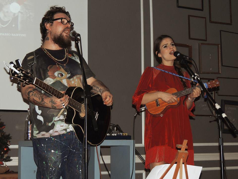 Violetta e Fabio Santini sul palco del Civico 3. Photo Federico Fantuzzi