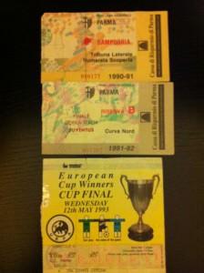 Parma Sampdoria 1990, Parma - Juventus 1992, Parma - Anversa 1993