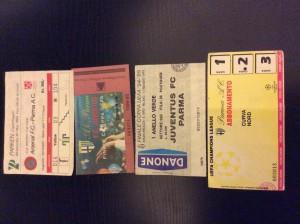 Arsenal - Parma 1994, Parma - Milan 1994, Parma - Juventus 1995