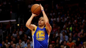 Steph Curry in azione