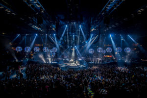 I Muse sul palco del Forum