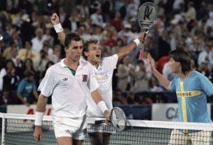 Wilander e Lendl dopo la finale del 1988